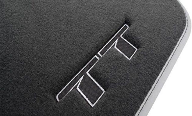 wunderbare audi 8s1061275mno textilfussmatten premium vorne schwarzsilbergrau tttts 2 stuck foto
