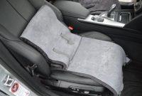 wunderbare autositz auflage aus lammfell fur ledersitze 30cm breite x 138cm lange farbe schiefer keine heissen sitze im sommer bild
