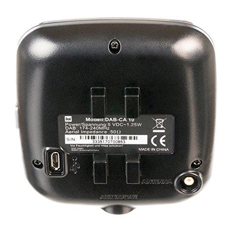 wunderbare dual dab ca 10 kfz adapter automatischer sendersuchlauffunktion bluetooth und aux in anschluss farbdisplay schwarz bild