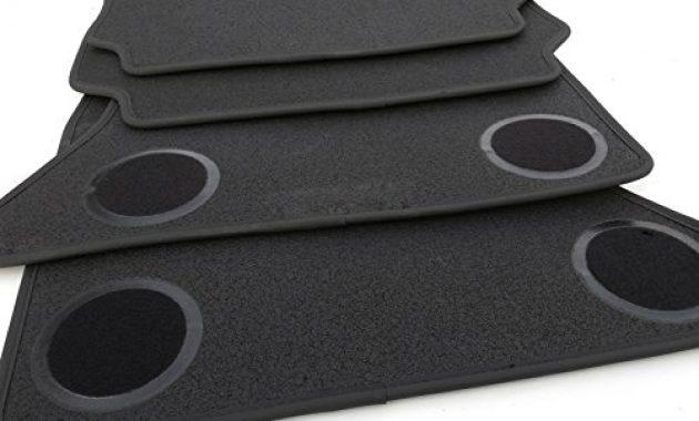 wunderbare kh teile fussmattenvelours automatten premium qualitat stoffmatten 4 teilig schwarz nubukleder einfassung foto