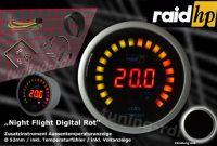 wunderbare raid hp 660543 zusatzinstrument aussenthermometer temperaturanzeige serie night flight digital red bild