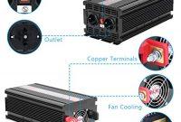 wunderbare sweepid wechselrichter 20004000 watt spannungswandler inverter kfz 12v auf 230v konverter mit fernbedienung und zweifachen ac verkaufsstellen usb 2000w4000w foto